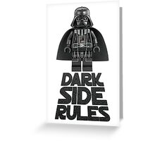 Dark side lego Greeting Card