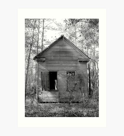 Old Abandoned Schoolhouse Art Print