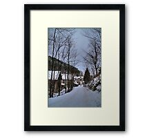 Mountain village Framed Print
