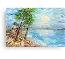 Tropical Blue  Canvas Print