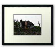 Life among Destruction Framed Print