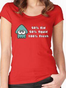 Splatoon Fresh Shirt (Turquoise) Women's Fitted Scoop T-Shirt