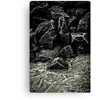 Frosted Rocks Canvas Print