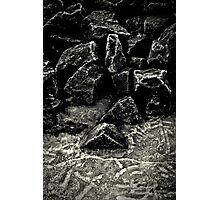 Frosted Rocks Photographic Print