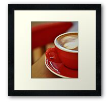 it's coffee time Framed Print