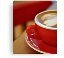 it's coffee time Canvas Print