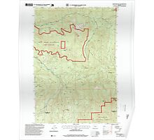 USGS Topo Map Oregon Rooster Rock 281316 1997 24000 Poster
