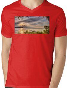 Through the Leaves Mens V-Neck T-Shirt