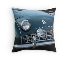 Old Antique Triumph car Throw Pillow