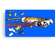 Hobbes Attacking Calvin-1 Canvas Print