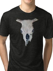 Old Cow Skull tee Tri-blend T-Shirt