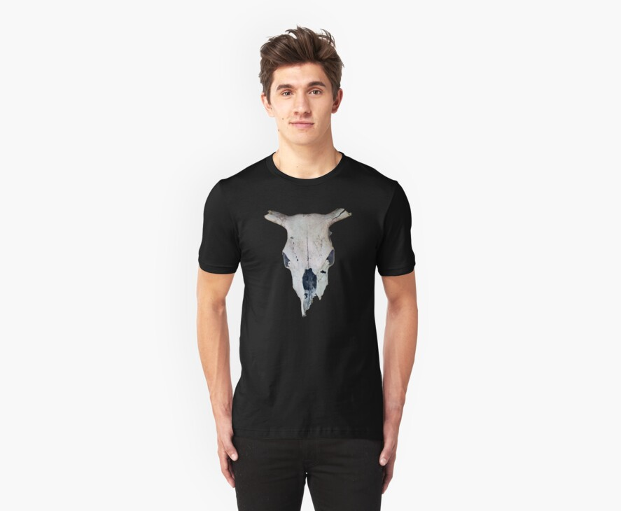 Old Cow Skull tee by DAdeSimone