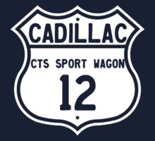 2012 Cadillac CTS Sport Wagon Highway Route Sign Kids Tee