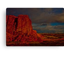 Fire In The Valley  Canvas Print