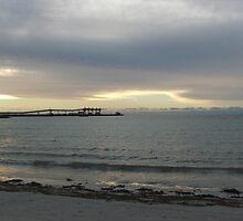 silver sky & sea with jetty by Bowen Bowie-Woodham
