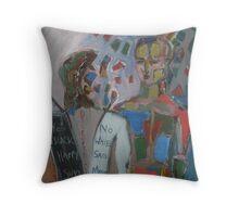 Derrida Deconstruction Man Throw Pillow