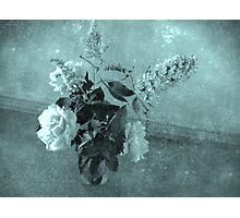 Roses and buddleias in a vase Photographic Print