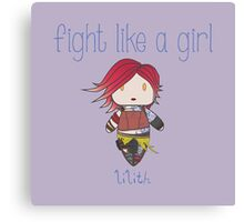 Fight Like a Girl | Fire Girl Canvas Print