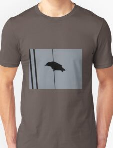 Crow on a wire: silhouette T-Shirt