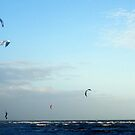 Altona Beach Kite Boarders by wyvernsrose