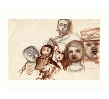 Sepia Sojourn and More Shocking News Art Print