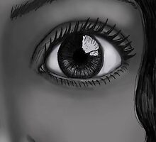 black & white tablet drawing by Claire  Thomas