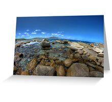 Rocks at Bettys beach Greeting Card