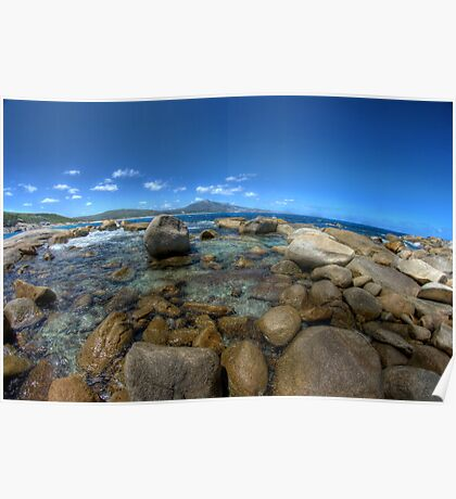 Rocks at Bettys beach Poster