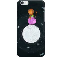 Baby Monkey Rides A Pig Backwards On The Moon iPhone Case/Skin