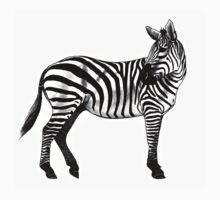 Inky Zebra One Piece - Long Sleeve
