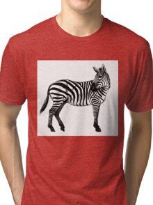 Inky Zebra Tri-blend T-Shirt
