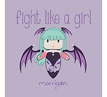 Fight Like a Girl | Demon Girl Photographic Print
