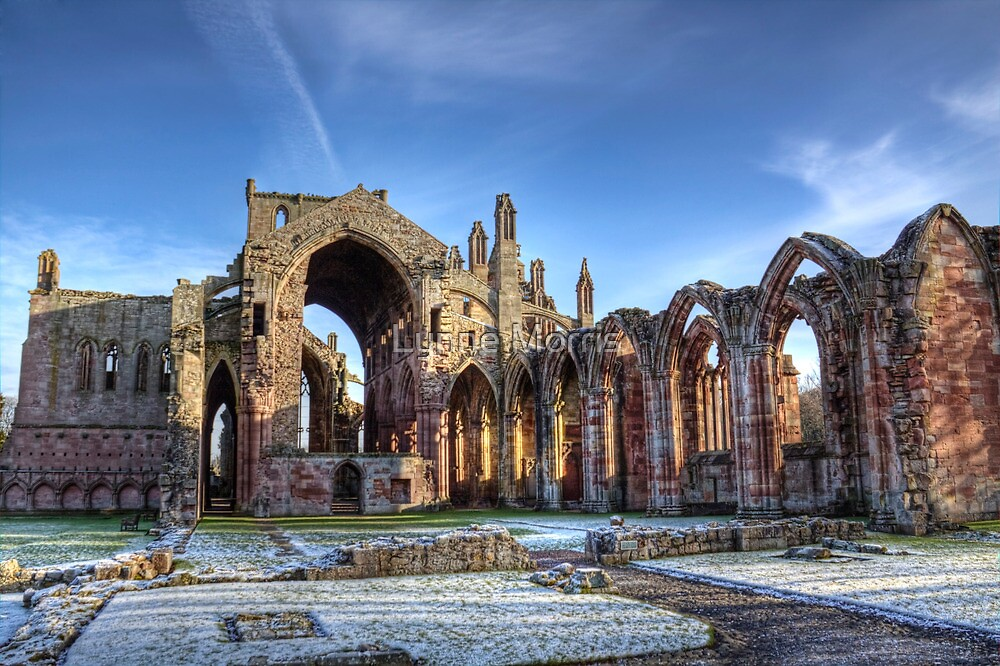 Melrose Abbey West View by Lynne Morris