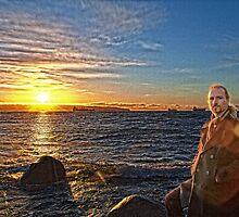 Winter Sunset #2 (portrait) by James Zickmantel