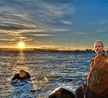 Winter Sunset #4 (portait) by James Zickmantel