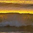 Waves of golden light by Ali Brown