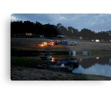 Camping on the Shores of Lake Boondooma Metal Print