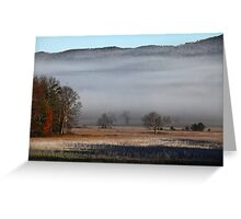 On A Crystal Morning Greeting Card