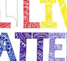 Rainbow Henna Zendoodle All Lives Matter! Sticker