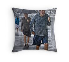 doubled up Throw Pillow