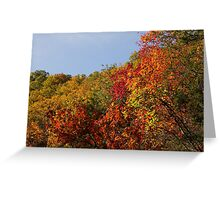 Hills Of Fire Greeting Card