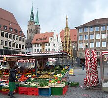Hauptmarkt of Nürnberg, Germany by TrixiJahn