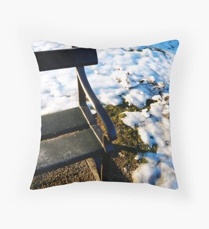 Cold Seat Throw Pillow