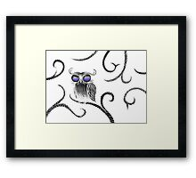 Owl let you hang around (white) Framed Print