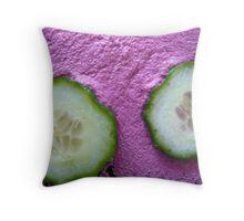Pink Cucumber Throw Pillow
