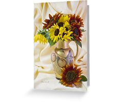 Multi Color Sunflowers Greeting Card