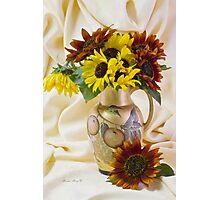 Multi Color Sunflowers Photographic Print
