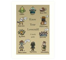 Know Your Lovecraft! Art Print