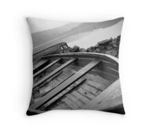 Mysteries of Lochs & Boats Throw Pillow