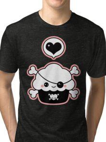 Cute Pirate Cupcake Tri-blend T-Shirt